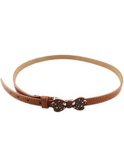 Brown Bead Bow Belt