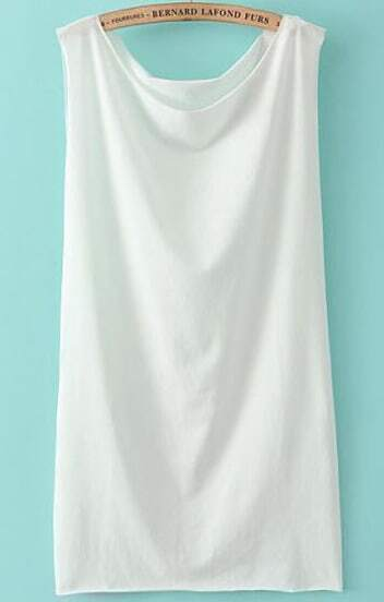 White Boat Neck Slim Bodycon Dress