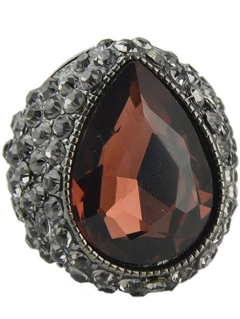 Фото Purple Gemstone Retro Silver Diamond Ring. Купить с доставкой