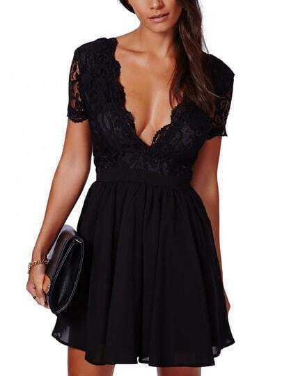 http://www.shein.com/Black-Deep-V-Neck-Lace-Pleated-Dress-p-195063-cat-1727.html?utm_source=truskawkowakawa.blogspot.com&utm_medium=blogger&url_from=truskawkowakawa