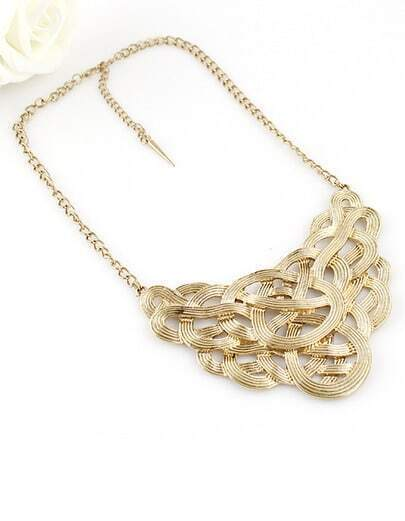 Punk Style Gold Hollow Out Collar Necklace