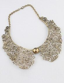 Gold Bead Collar necklace