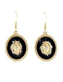 Gold Lion Dangle Earrings