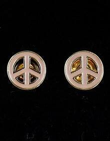 Gold Antiwar Hollow Stud Earrings