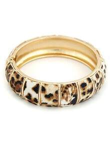Gold Leopard Pattern Bracelet