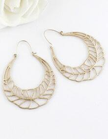 Fashion Gold Hollow Earrings