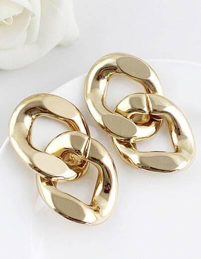 Fashion Gold Chain Earrings