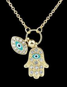 Gold With Diamond Eye Necklace