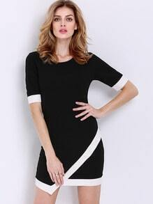 Black Short Sleeve Bodycon Dress