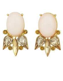 Gold Fashion Diamond Stud Earrings