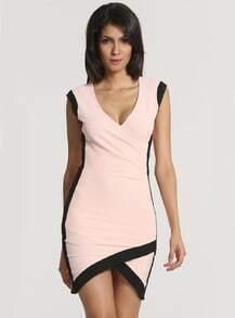 Pink Sleeveless Bodycon Dress