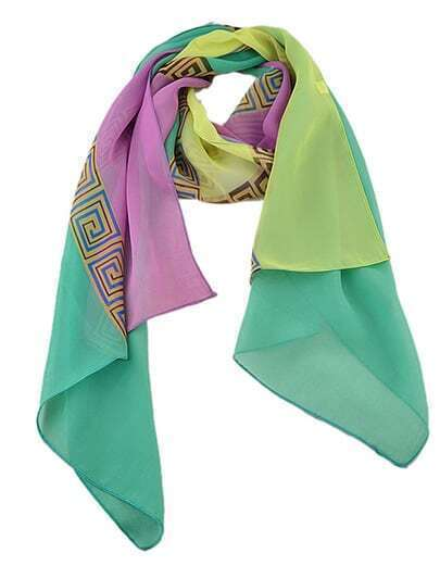 Green Pinted Lady Scarf