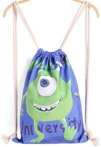 Blue Eye Monster Print Backpack