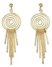 Fashion Style Gold Plated Long Hanging Earrings