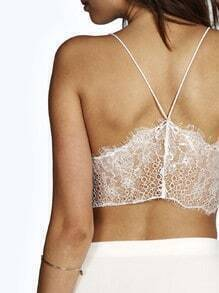 White Spaghetti Strap With Lace Lingerie