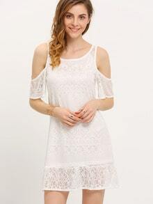 White Off The Shoulder Lace Dress