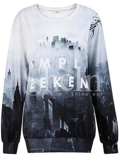 Grey VAMPIRE WEEKEND Castle Print Sweatshirt