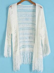 With Tassel Hollow Cardigan