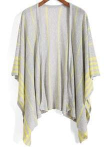 Striped Knit Loose Cardigan