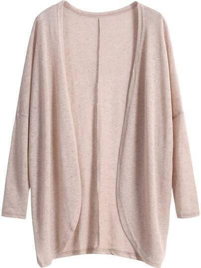 Khaki Long Sleeve Loose Knit Cardigan