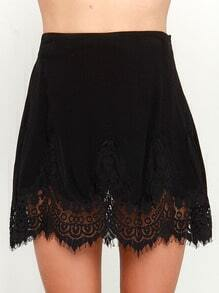 Black With Lace Skirt