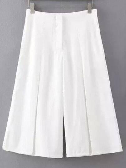 White Vintage Wide Leg Pant