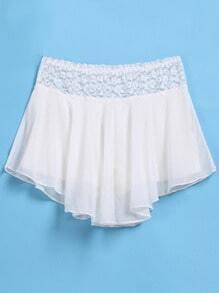 White Lace Skirt Shorts