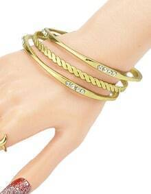 Popular Simple Style Gold Plated Women Bangle Set