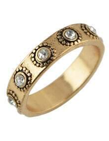 Antique Gold Simple Women Vintage Ring