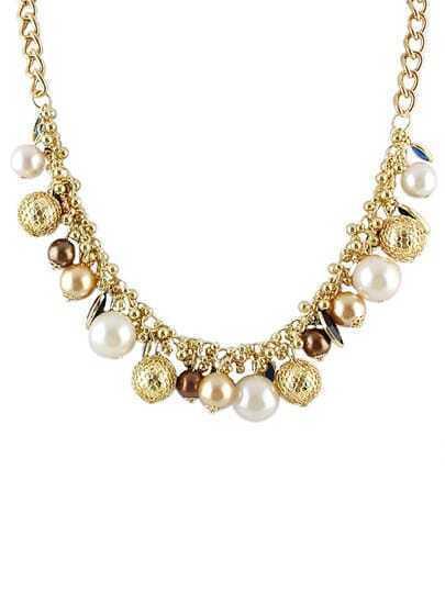 Latest Design White Women Beads Necklace