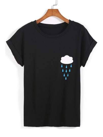 Rain Cloud Print Tee