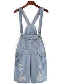 Jumpsuits Overalls bolsillo-azul