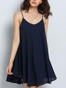 Spaghetti Strap Asymmetrical Shift Dress