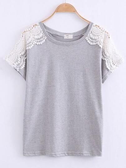 Crochet Raglan Sleeve T-Shirt