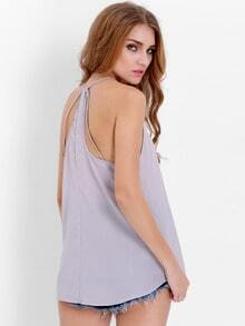 Grey Spaghetti Strap Loose Cami Top