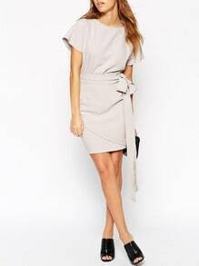 Grey Short Sleeve Bodycon Dress