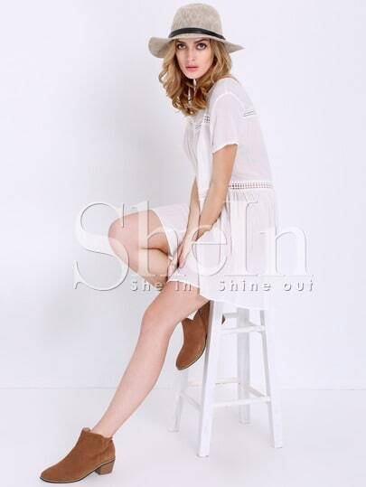 Hollow Out Shift Dress