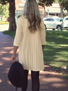 Apricot Long Sleeve Ruched Dress