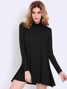 Vestido Casual manga larga-negro