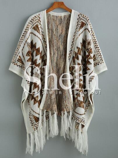 http://www.shein.com/Beige-Batwing-Sleeve-Tassel-Geometric-Print-Sweater-p-233324-cat-1734.html?aff_id=1285