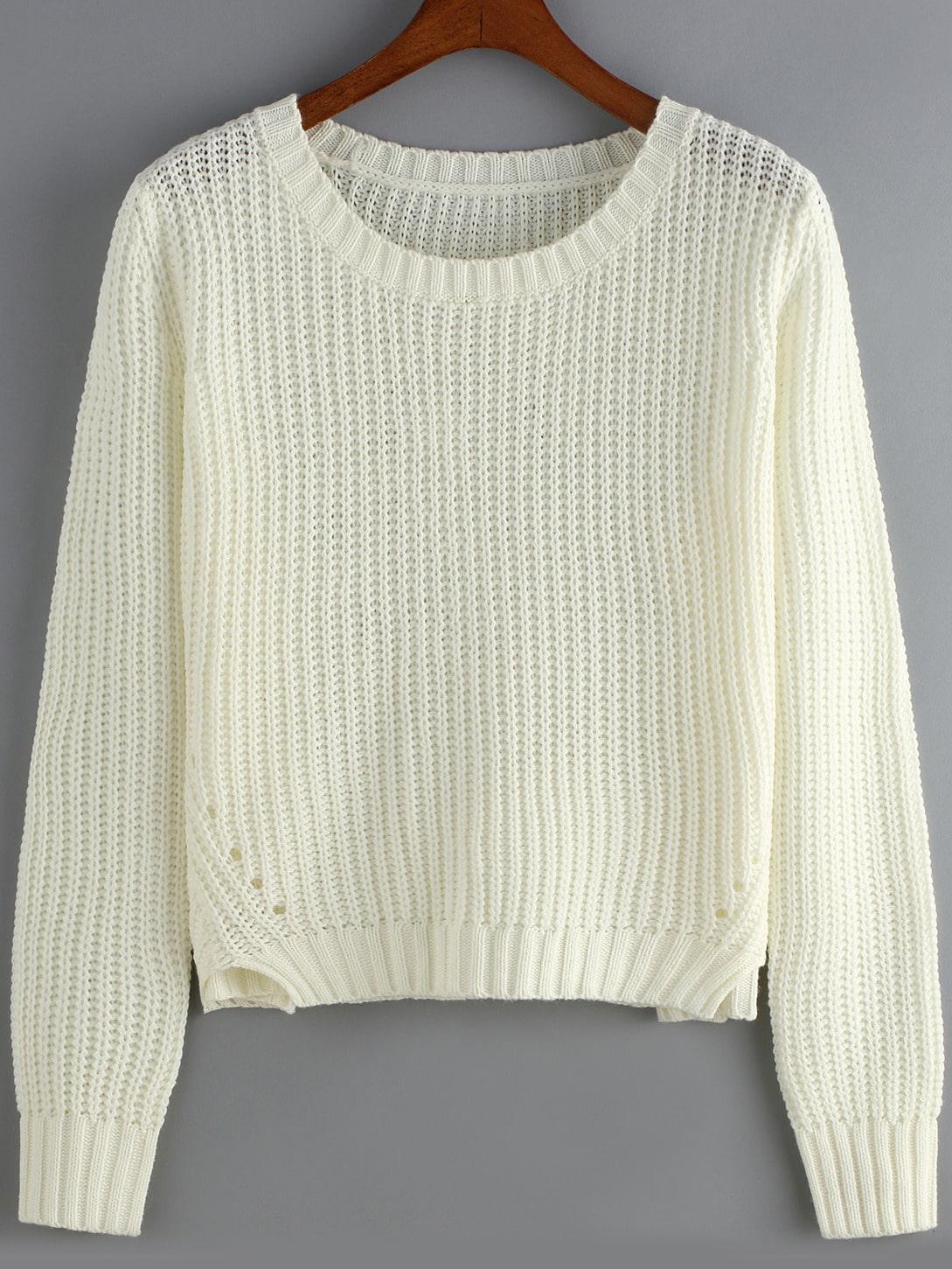 Вязание кроп свитера 77