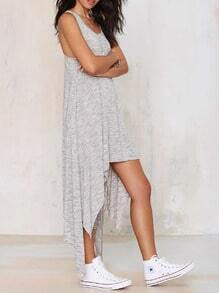 Grey Sleeveless Asymmetric Dress
