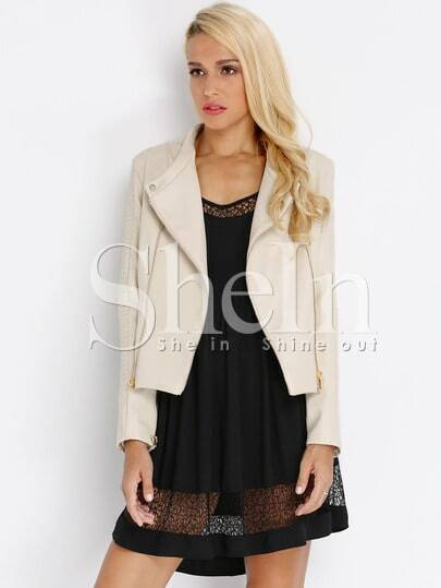 Apricot Long Sleeve Zipper Jacket