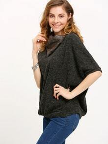 Grey Bat Sleeve Loose Sweater