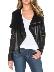 Black Long Sleeve Zipper Jacket