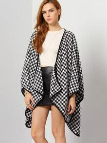 Black White Asymmetric Coat