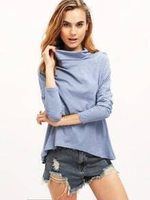 Blue Split Back T-Shirt