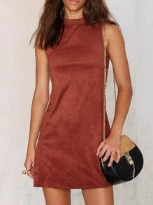 Camel Sleeveless Cut Out Dress