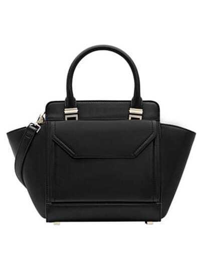 Black Fashion PU Shoulder Bag