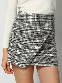 Black White Houndstooth Skirt